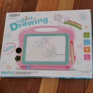 Magnetic tablet drawing for kids brand new pink